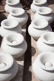 White clay ashtrays Stock Photography
