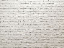 White clay brick wall facade interior design for pattern wallpaper, background and backdrop. Shop, commercial, texture, masonry, bricks, stone, natural royalty free stock images