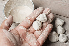 White clay filler. Or soft-prepared chalk or clay rich in alumina Royalty Free Stock Image