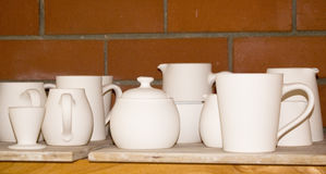 White Crockery Royalty Free Stock Photos