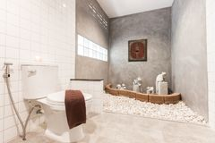 White clean bathroom royalty free stock images