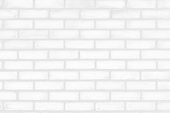White clean brick wall for background. stock photography