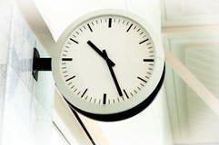 White clean clock Stock Photos