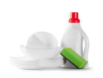 White clean dishes Royalty Free Stock Photo