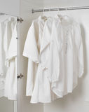 White clean ironed clothes Royalty Free Stock Photos