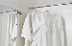 White clean ironed clothes Stock Image