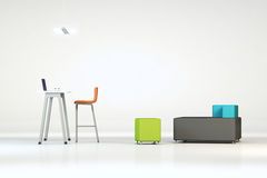 White clean office with furniture Stock Images