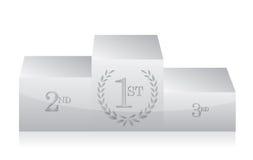 White clean podium illustration design Royalty Free Stock Photos