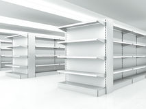 White clean shelves Royalty Free Stock Photos