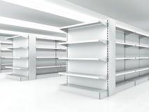 White clean shelves royalty free stock photos