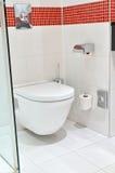 White toilet  Royalty Free Stock Image