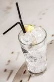 White clear drink with ice Stock Images