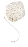 White clew of cotton thread isolated Royalty Free Stock Photo