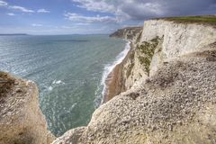 White cliff along Jurassic coast Royalty Free Stock Photos