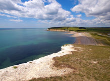 White Cliff Beach Royalty Free Stock Photography