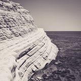White Cliff and Blue Water at Scala dei Turchi. In Sicily Stock Photo
