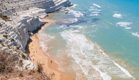 """The white cliff called """"Scala dei Turchi"""" in Sicily Royalty Free Stock Images"""