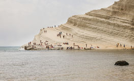 The white cliff called `Scala dei Turchi` in Sicily Royalty Free Stock Photography