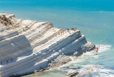 "The white cliff called  ""Scala dei Turchi"" in Sicily Royalty Free Stock Photos"