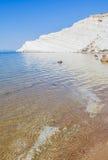 "The white cliff called ""Scala dei Turchi"" in Sicily Stock Image"