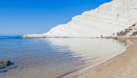 "The white cliff called ""Scala dei Turchi"" in Sicily Royalty Free Stock Photos"