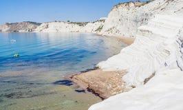 "The white cliff called ""Scala dei Turchi"" in Sicily Royalty Free Stock Photo"