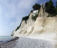 White Cliff. Famous tourist attraction in Denmark, the white cliffs of Moen Stock Image