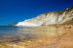 White cliff named Scala dei Turchi Royalty Free Stock Photos