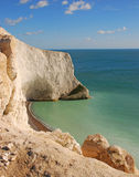 White Cliff at The Needles in Isle of Wight Stock Images