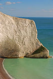 White Cliff at The Needles in Isle of Wight Stock Photos