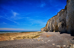 White cliff in Normandy Stock Photography
