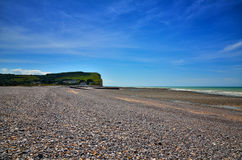 White cliff in Normandy Stock Image