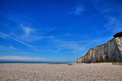 White cliff in Normandy Royalty Free Stock Photography