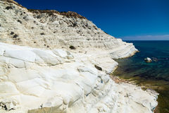 White cliff Scala dei Turchi Stock Image