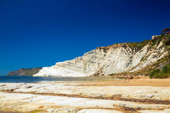 White cliff Scala dei Turchi Stock Photos