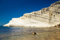 White cliff of Scala dei Turchi Stock Images