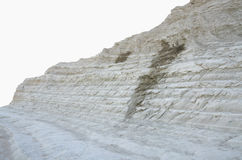 White cliff of Scala dei Turchi (Turkish Staircase) near Agrigento, Sicily Stock Photo