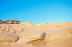White cliff of Scala dei Turchi (Turkish Staircase) near Agrigento, Sicily Stock Photos