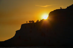 White cliff of Scala dei Turchi (Turkish Staircase) near Agrigento, Sicily Stock Images