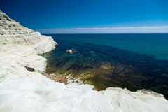 White cliff Scala dei Turchi Royalty Free Stock Photography