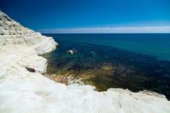 White cliff Scala dei Turchi Royalty Free Stock Photography