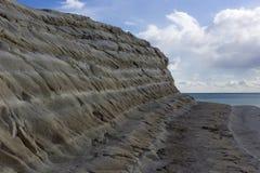 White cliff of Scala dei Turchi Royalty Free Stock Photo