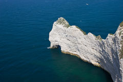 White cliffs. The french northern coast at Etretat, washed by the water of the English Channel Royalty Free Stock Photo