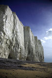 White cliffs. Sheer white cliffs at Birling Gap Beach England Stock Photos