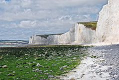 White cliffs. On the south east coast of England stock photography