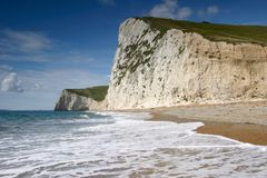 White cliffs. Near Durdle Door, Dorset Stock Photography