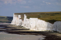 White cliffs. Made of chalk in southern England Royalty Free Stock Photos