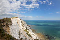 White Cliffs Of Beachy Head. Looking up the coastline of Beachy Head towards Eastbourne, East Sussex, United Kingdom royalty free stock photography