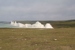 White Cliffs at Birling Gap. National Trust Walking Area at Birling Gap Royalty Free Stock Photography