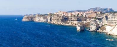 White cliffs of Bonifacio Royalty Free Stock Photography